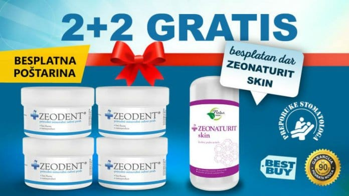 Zeodent Prah - Akcijski Paket 2+2 Gratis