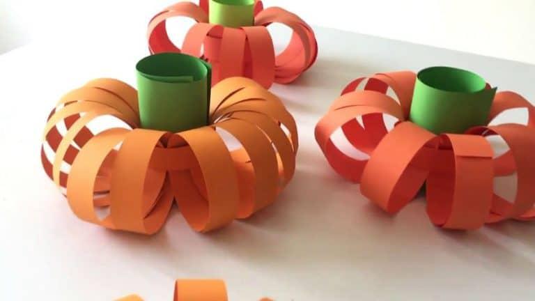 Kako napraviti bundeve od papira?
