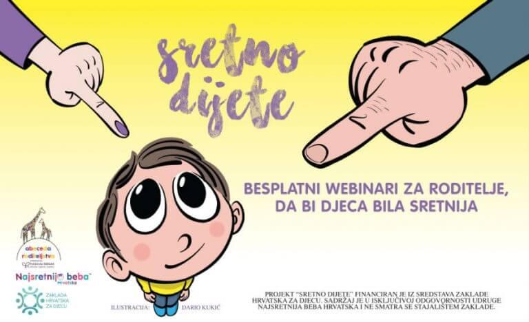 """Projekt """"Sretno dijete"""" – besplatni online seminari za roditelje"""