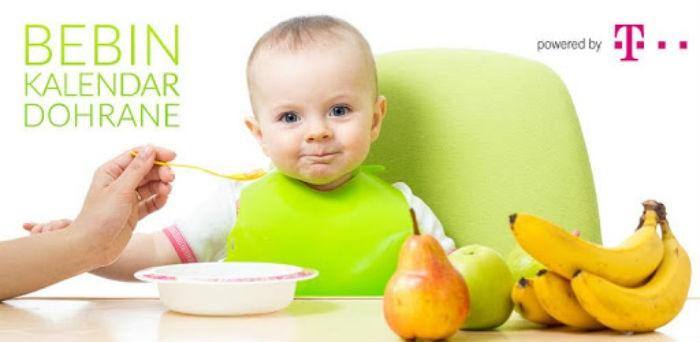 Aplikacije za bebe i djecu: Bebin kalendar dohrane