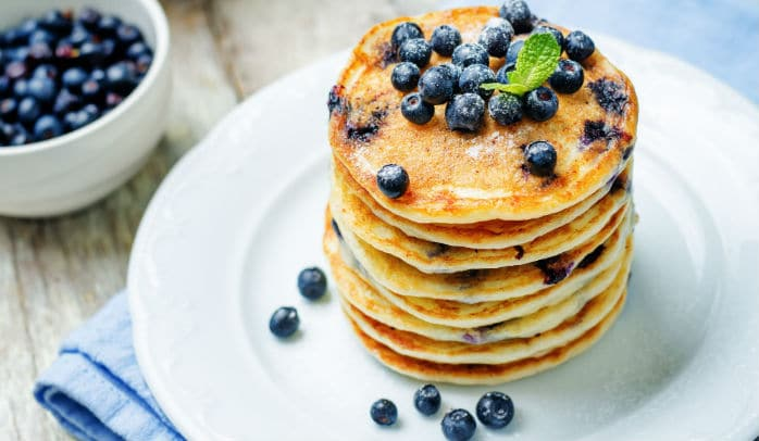 Proteinske palačinke - recept s borovnicama