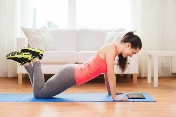 Vježbe za grudi: Sklekovi na koljenima