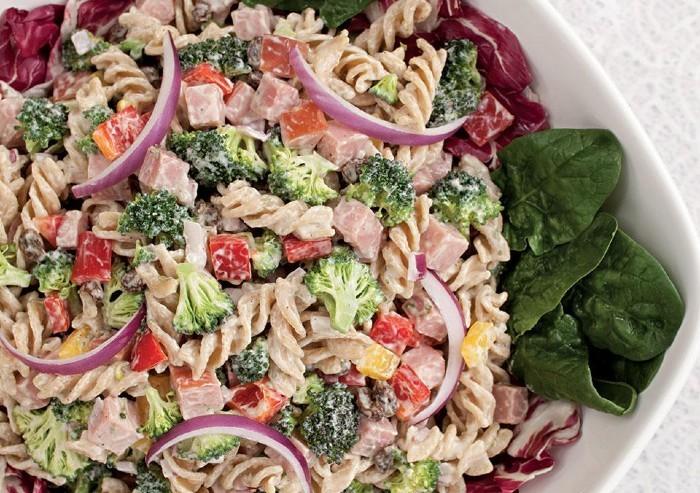 Namirnice bogate željezom - Salata od brokule, šunke i tjestenine